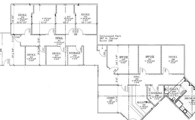 Cottonwood Suite 150 Floorplan